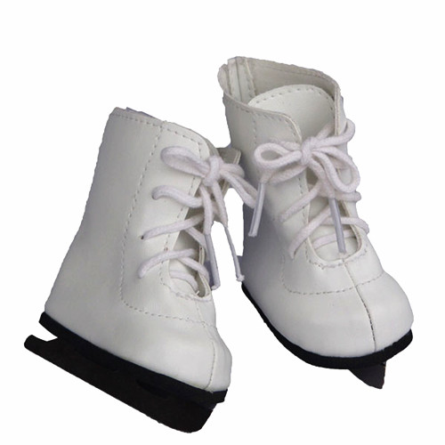wholesale doll shoes, ice skate style doll shoes