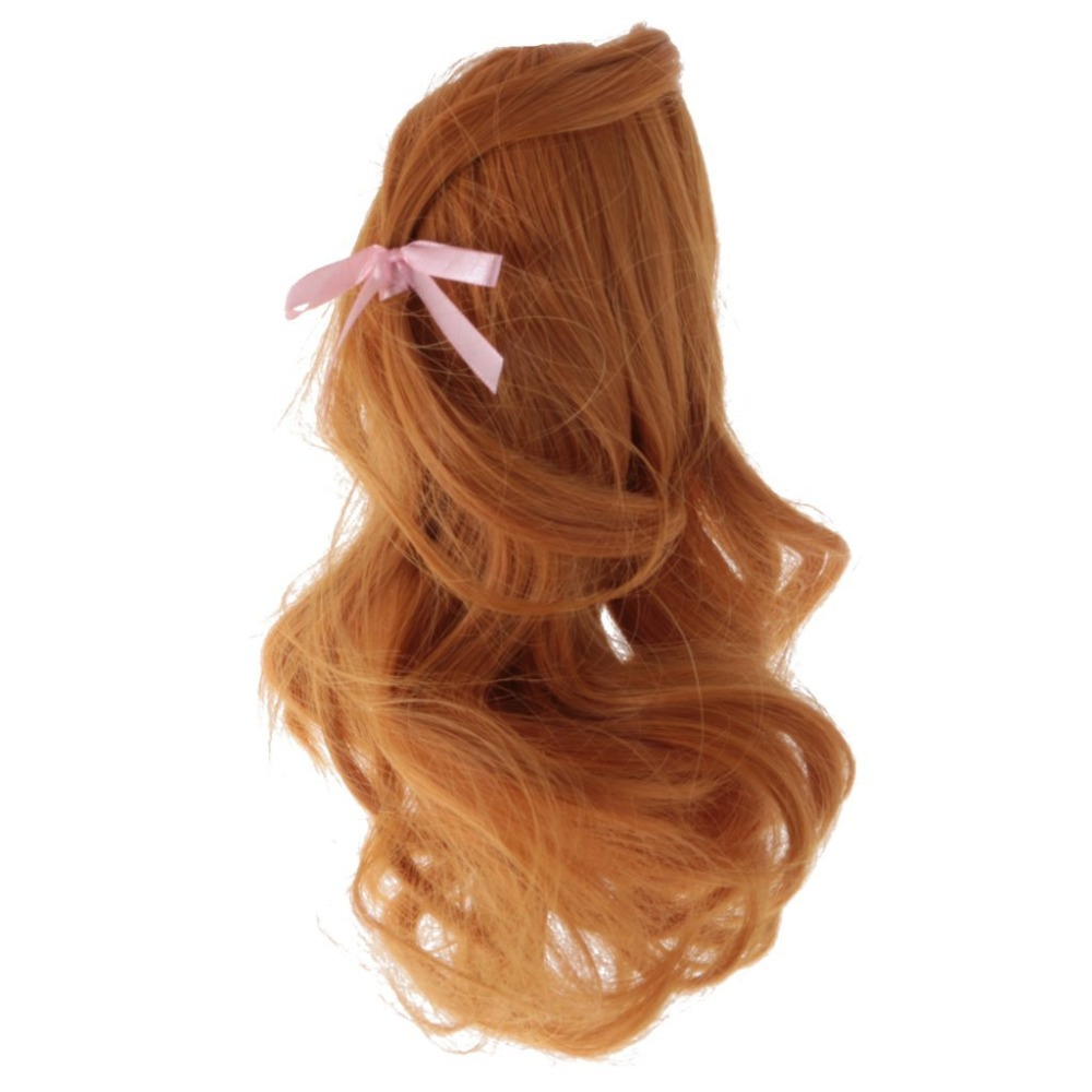 multicolor hair for  vinyl doll wig