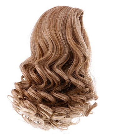 medium curl wig for girl doll,wig for american girl doll