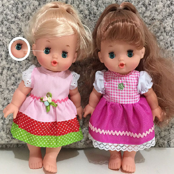 hot selling colorful fixed eyes for 18 inch vinyl doll