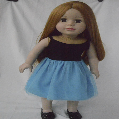denim jacket blue skirt for 18 inch vinyl doll clothes