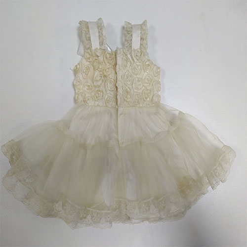 white lace dress for 18 inch vinyl collectable   doll accessories