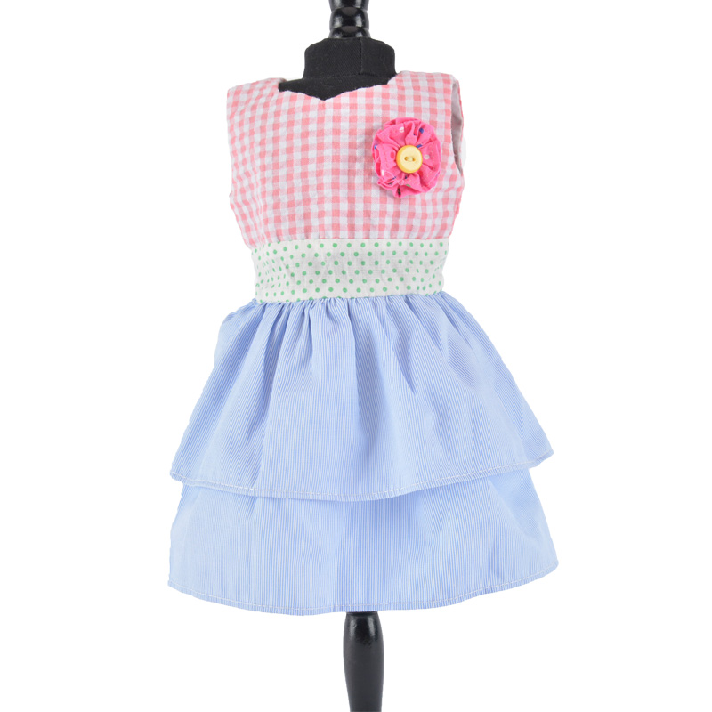 sleeveless  plaid dress for 18 inch doll accessories