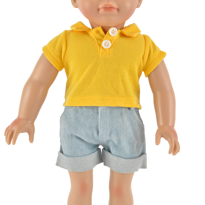 summer yellow T-shirt for  doll accessories